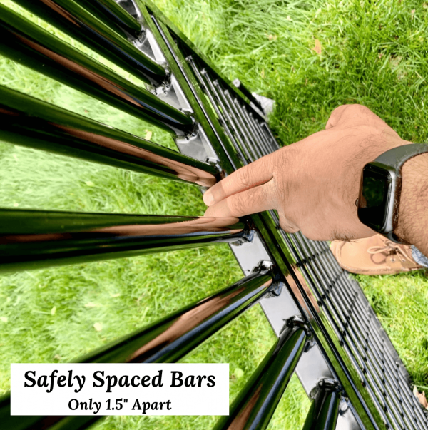 safely spaced bars for horses