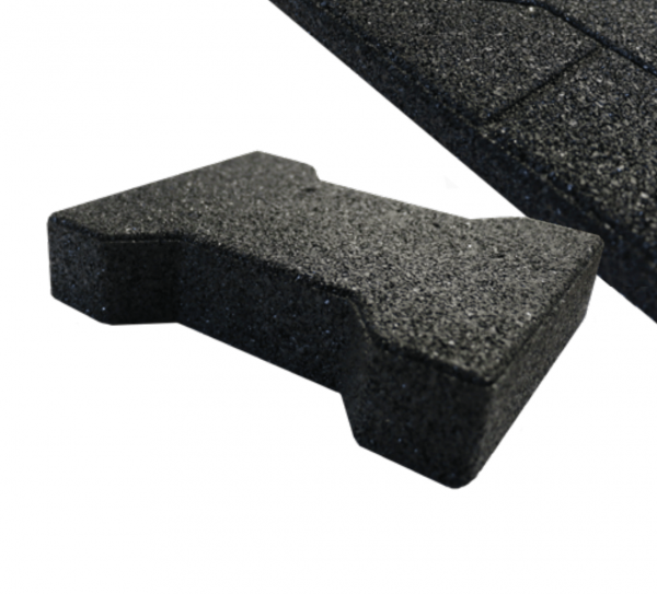 black rubber paver