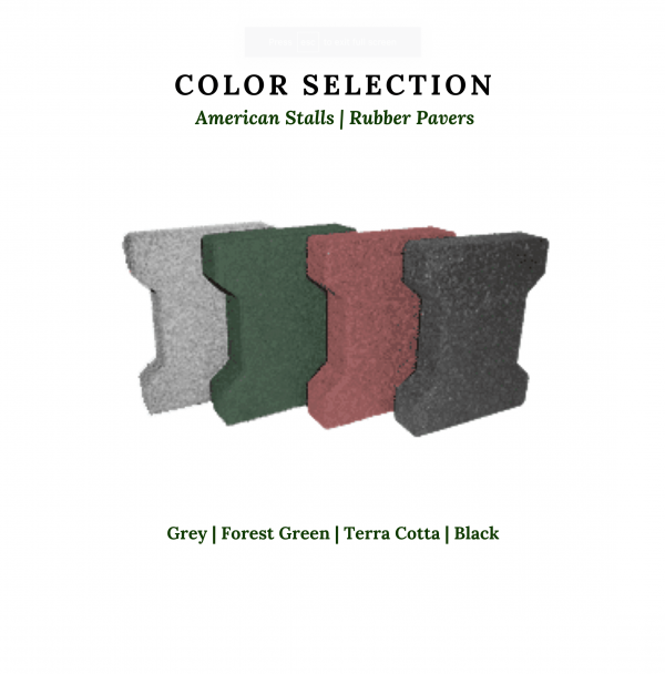 color selection of rubber pavers