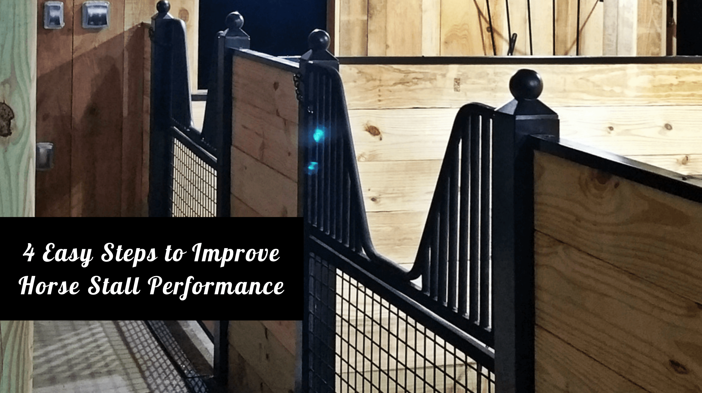 4 Easy Steps to Improve Horse Stall Performance