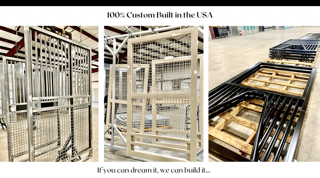 Our horse stalls are 100% made in the USA. Each horse stall door is custom built to fit and be designed for your horse barns