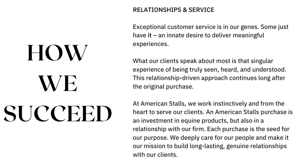 Exceptional customer service is in our genes. Some just have it – an innate desire to deliver meaningful experiences. What our clients speak about most is that singular experience of being truly seen, heard, and understood. This relationship-driven approach continues long after the original purchase. At American Stalls, we work instinctively and from the heart to serve our clients. An American Stalls purchase is an investment in equine products, but also in a relationship with our firm. Each purchase is the seed for our purpose. We deeply care for our people and make it our mission to build long-lasting, genuine relationships with our clients.