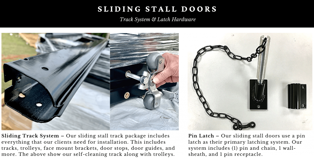 sliding horse stall hardware and latches
